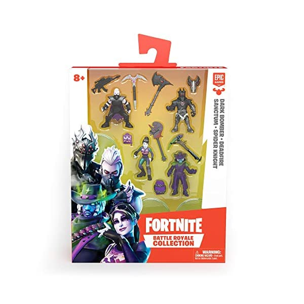 Figuras de acción Famosa- FORTNITE S3-Blister 7CM Pack de 4 Figuras de 7 cm, Serie 3, edición Limitada, Multicolor… 1