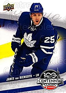 (CI) James Van Riemsdyk Hockey Card 2016-17 UD Toronto Maple Leafs Centennial Classic 4 James Van Riemsdyk