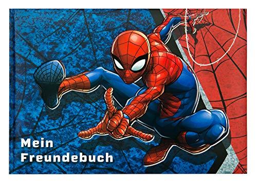 Undercover SPID0964 Freundebuch A5, Marvels Spider-Man, 128 vorgedruckte Seiten mit vielen Eigenschaften zum Ausfüllen