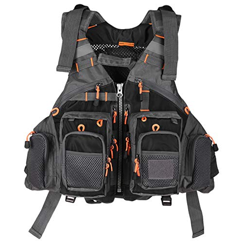 Lixada Fly Fishing Vest with Breathable Mesh for...