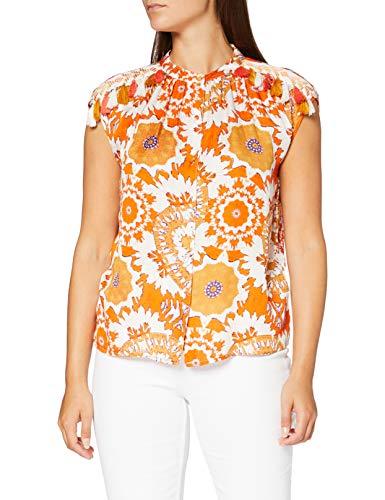 Derhy Damen Bouvreuil Bluse, Orange (Orange 400), 38 (Herstellergröße: Medium)