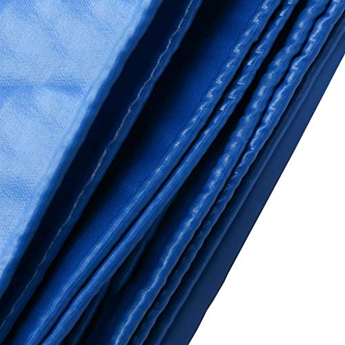 DFREW Heavy Duty Blue Tarp Tarpaulin Thicken Polyester Tarpaulin 100% Waterproof and Uv Resistant Premium Quality Pool Cover Tarp for Outdoor Camping,3Mx6M,3Mx6M