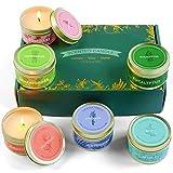 LA BELLEFÉE 6 Velas Perfumadas de Soja Naturales Arománticas con Aceite Essencial Aromaterapia Regalos para Cumpleaños San Valentín Navidad Festivales Amigos Familiares