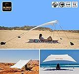 GLOBOLANDIA Tenda da Spiaggia 95118B Tents Globo Sand 2.7m x 2.4m con Ancoraggio a Sabbia, Parasole Portatile Tende con Ancoraggio a Sabbia Tettuccio Parasole