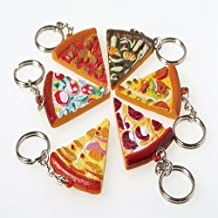 US Toy - Assorted Pizza Slice Key Chains, Made of Plastic, (1.75 Inches), (2-Pack of 12)