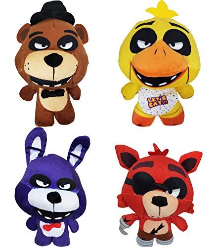 Five Nights at Freddy's Plush Toy 4pc Set 10' Stuff Animal Plush Toy