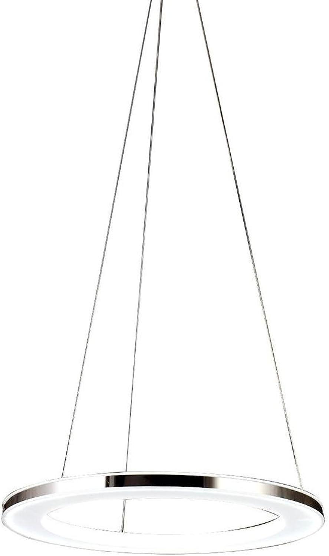 Pendellampe LED Ring Romantisches Hngeleuchte Balkon Einzel Einfache Kreative Runde Acryl Pendelleuchte Aluminium Augenschutz Elegant Hngelampe für Esszimmer Wohnzimmer Cafe Hhenverstellbare 20CM