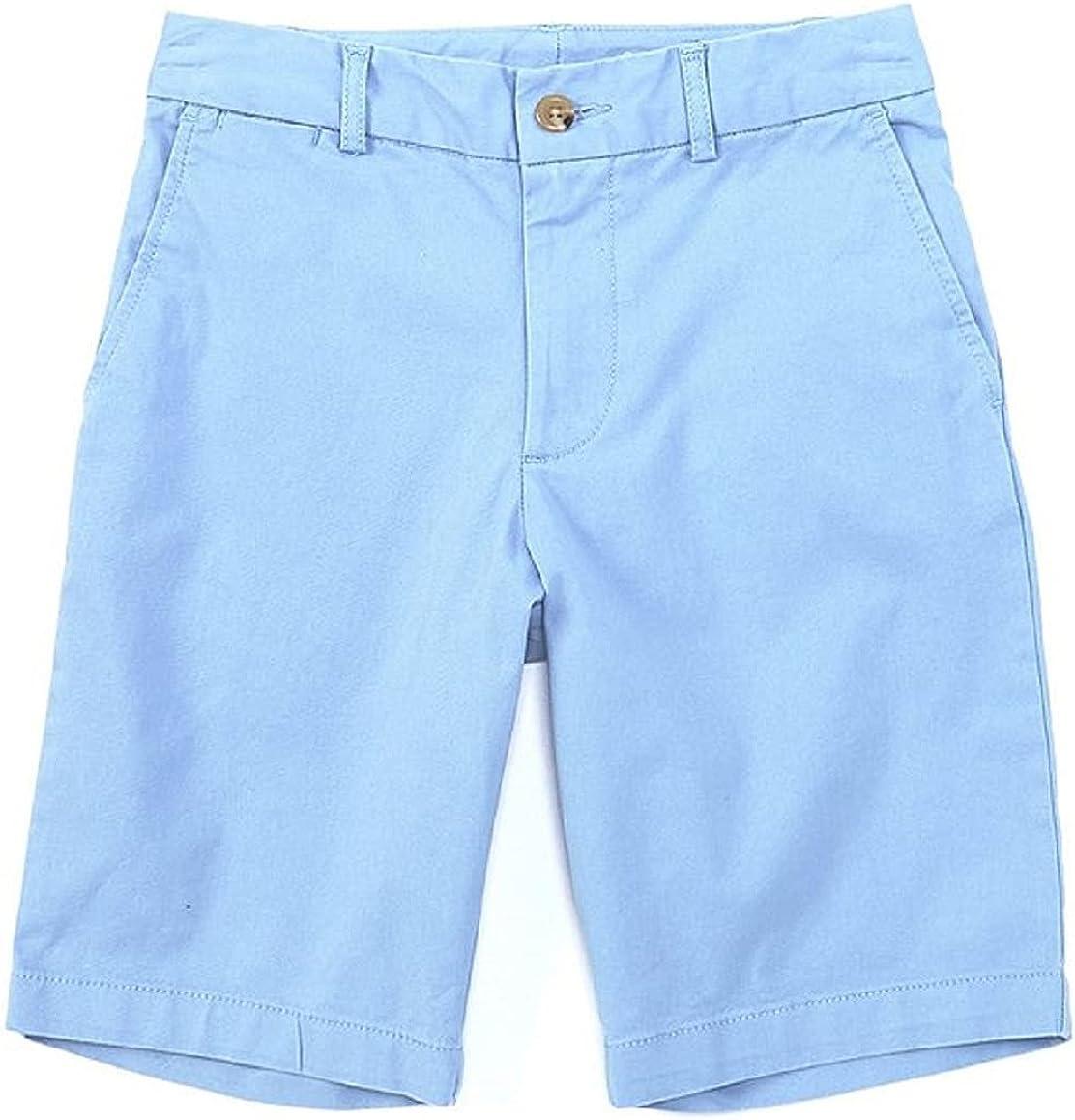 Ralph Lauren Boys Soft Aqua Flat-Front Oxford Shorts, US 16 Boys