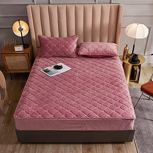 HAIBA Colcha de algodón de patchwork, incluye edredón acolchado transpirable de alta calidad, sábana bajera ajustable en varios tamaños y colores, 1,5 x 2 m + 30 cm