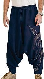 Pantalons Haren de la Mode Masculine Drop Crotch H