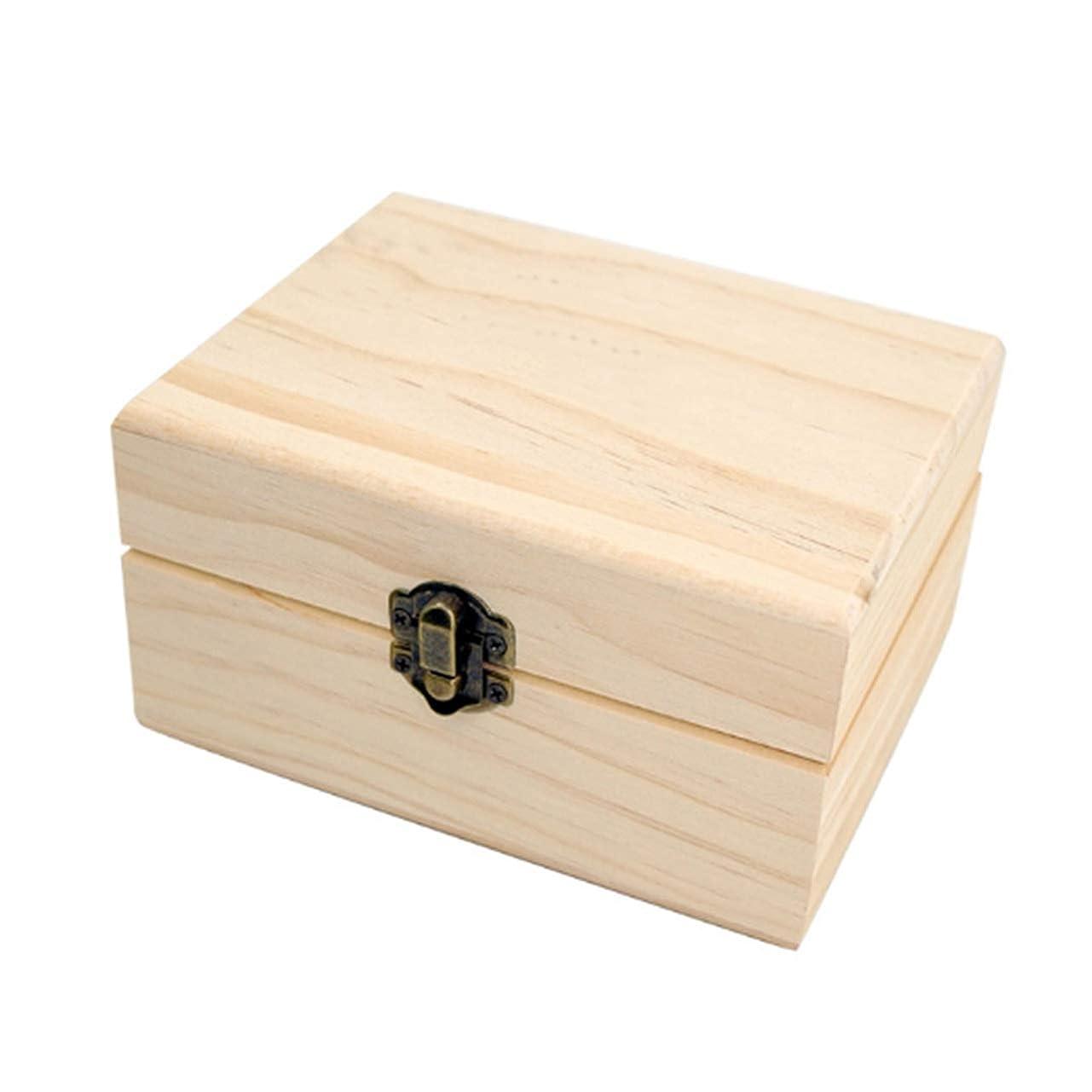 維持拡声器学校の先生フェリモア エッセンシャルオイル 収納ボックス ボトル用 松 木製 格子状 倒れにくい 12マス (ブラウン)