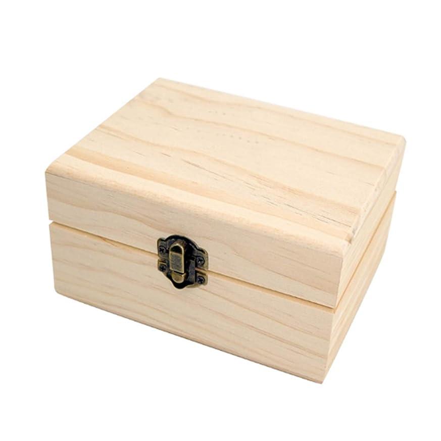 ネブシャワーカウンタフェリモア エッセンシャルオイル 収納ボックス ボトル用 松 木製 格子状 倒れにくい 12マス (ブラウン)