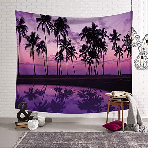 WERT Tapiz de patrón de árbol de Coco impresión de una Cara Manta de Pared impresión 3D Toalla de Playa Tapiz de impresión Digital A5 180x200cm