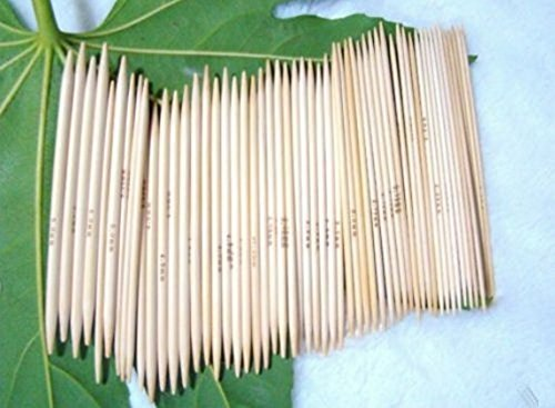 Paquet 11 de 13cm Double point Bamboo Knitting Kits Aiguilles 5 Sets (Needle Head: 2mm - 5mm)