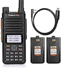 Radioddity GA-510 10-Watt Dual Band Ham Radio Handheld High Power Long Range with 2 2200mAh Batteries & Programming Cable, Work with Chirp