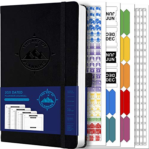 Dated 2021 Planner, Weekly Appointment Book, and 2021-2022 Calendar by The Art of Planning | Small 5