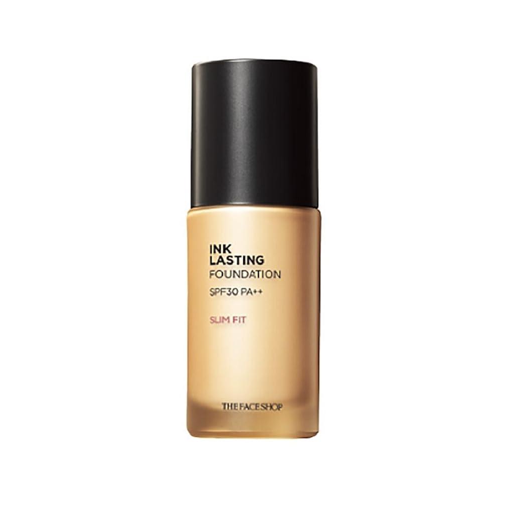 色進化する冷酷なThe Face Shop ザフェイスショップ Ink Lasting Foundation Slim Fit ファンデーション 30ml #V201 Apricot Beige[並行輸入品]