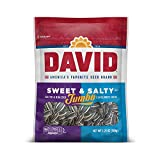 DAVID SEEDS Roasted and Salted Sweet and Salty Jumbo Sunflower Seeds, 5.25 oz, 12 Pack