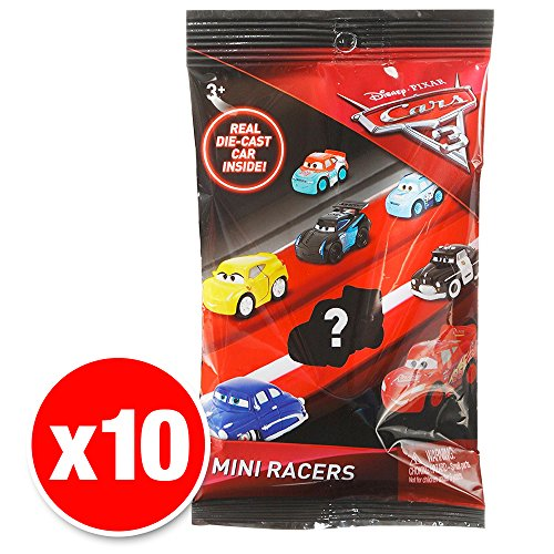 Disney Pixar Cars 3 Micro Racers Blind Bag 10 Pack