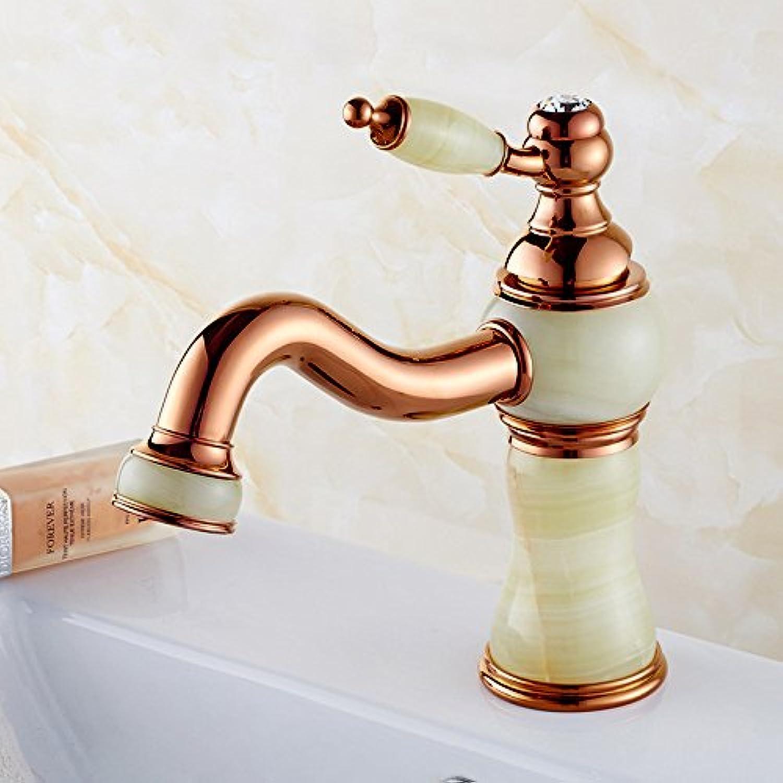ZHFCJade basin faucet, golden Jade faucet, European style bathroom
