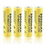 Batteria Ricaricabile 3.7v 18650 9900mah Batteria Ricaricabile Agli Ioni Di Litio Ad Alta Capacità, Per Batteria Torcia Torcia 1PCS
