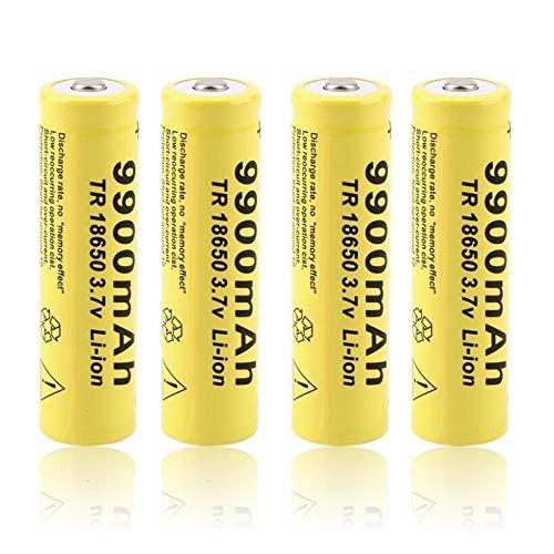 THENAGD Batteria al Litio da 3.7v 18650 9900mah, Batteria Ricaricabile agli Ioni di Litio al Litio 20PCS