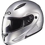 HJC Metallic Men's CL-MAX II Bluetooth On-Road Motorcycle Helmet - Silver / Large