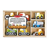 Melissa & Doug- 13180 Wooden Construction Site Vehicles, Multicolor