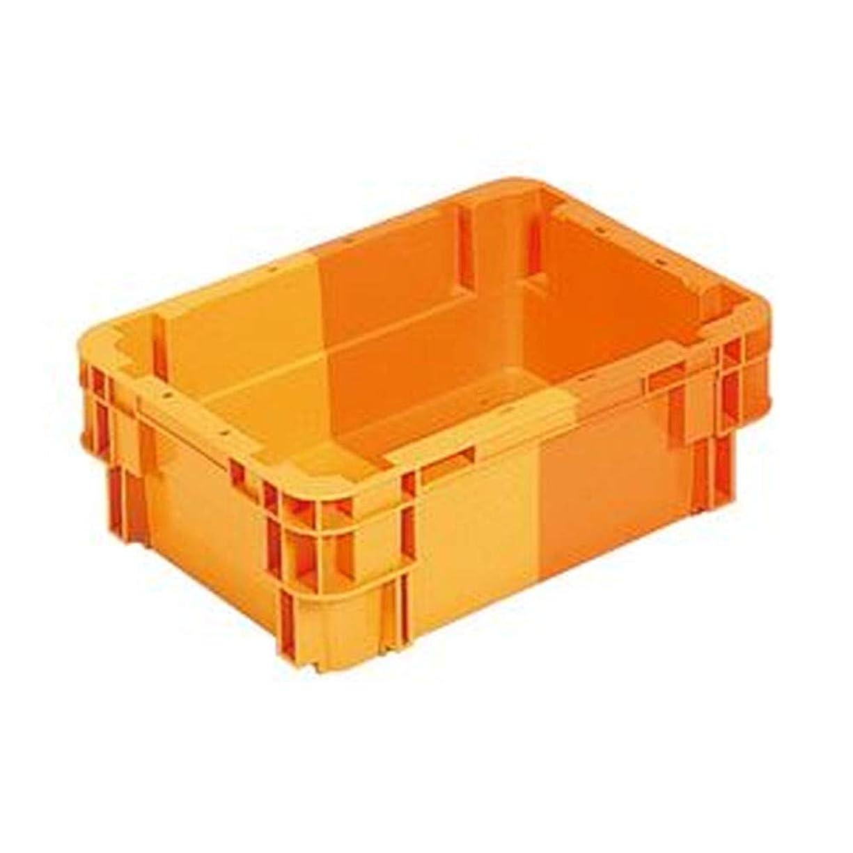 私定期的な信じる== 業務用10個セット == 三甲 - サンコー - / SNコンテナ/2色コンテナボックス / - Bタイプ - / 水抜孔無 / #11 / オレンジ×オレンジ - -