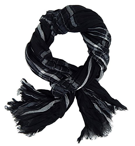 Ella Jonte Écharpes foulard d'homme élégant et tendance de la dernière collection by Casual-style noir gris blanc