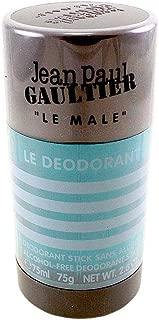 Jean Paul Gaultier Le Male Alcohol Free Deodorant Stick for Men, 2.6 Ounce, Multicolor