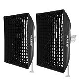 Godox 80 x 120 cm, 80 x 120 cm, caja de luz de panal para estudio fotográfico estroboscópico Flash Softbox Bowens Mount (2 unidades)