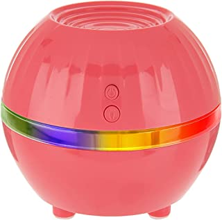 Air Innovations Ultrasonic Cool Mist Personal Humidifier LED Mood Light - Model AI-100A – Travel Size (Coral)