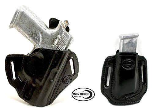 New 0091 AND 0019 - FNP 9 4 inch barrel OWB Shield Holster AND Double Stack Magazine Holder R/H Blac...