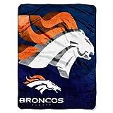 Officially Licensed NFL Denver Broncos 'Bevel' Micro Raschel Throw Blanket, 60' x 80', Multi Color