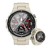 HQPCAHL Reloj Inteligente Mujer Smartwatch Hombre Impermeable IP68 Pulsera Actividad 1.28 Pulgada con Monitor De Ritmo Cardíaco Podómetro Reloj Actividad para Android iOS,Beige