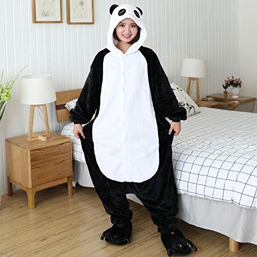 Pijama unisex de unicornio Totoro Panda de una sola pieza de invierno para nios, disfraz de anime, pijama de franela para adultos