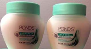 (2 pack) Pond's Cold Cream Cleanser [ Travel Size 1.78 oz / 50g ]