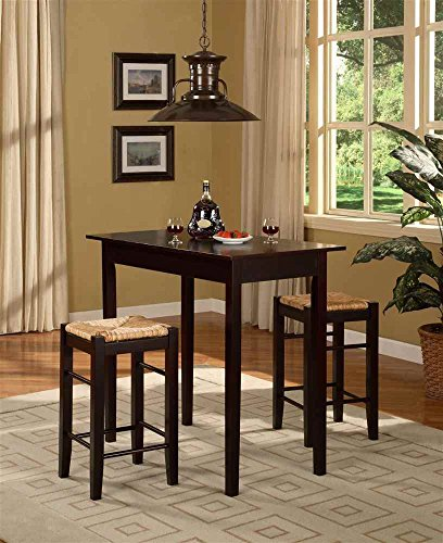 3 Pc Counter Dining Set in Espresso Finish