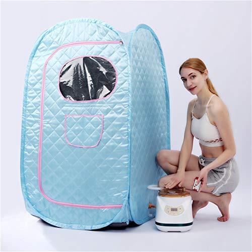 2.8L 1500W Portable Steam Sauna Cabin SPA Sauna Bath Box larger Tent Lose Weight Detox Therapy Steam Skin Spa Machine (Color : PS02B)