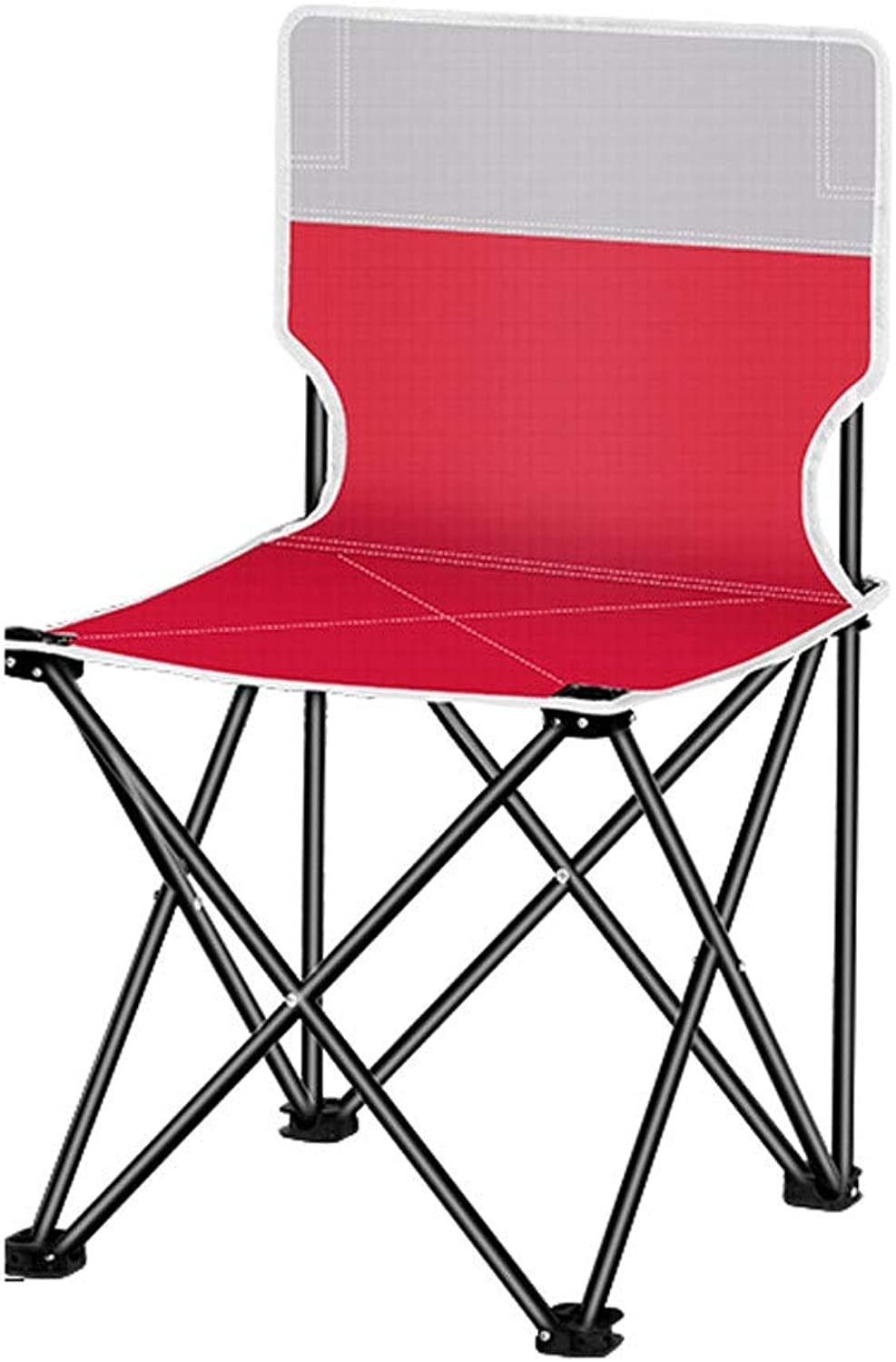 LNYJ Outdoor Folding Chair Portable Stool Painting Stool Portable Small Maza Beach Fishing Chair Camping Picnic Indoor Household Chair Strong Bearing Capacity (color   Red, Size   Medium)