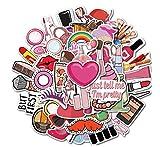 Pegatinas de graffiti para niñas, 50 unidades, para equipaje, teléfono, portátil, graffiti, pintalabios, calcomanías impermeables, pegatinas para ordenador