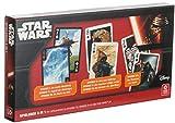 Brandsseller Caja de cartas 3 en 1, póquer, Rommé, Canasta Mau Mau, etc. con motivos de Star Wars