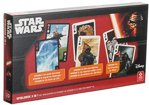 Brandsseller Karten-Spielebox 3in1 Poker Rommé Canasta Mau Mau etc. mit Motiven im Stil von Star Wars