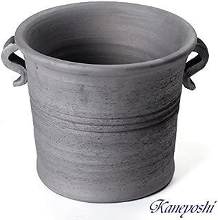 鉢 三河焼 KANEYOSHI 【日本製/安心の国産品質】 切立型 取っ手付 植木鉢 陶器 植物 27cm 8号