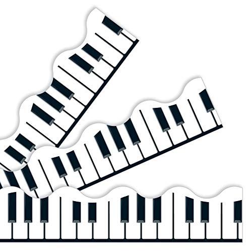 Keyboard-Zierleiste/Bordüre für Klassenzimmer, 11,8 m, ideal für Pinnwände