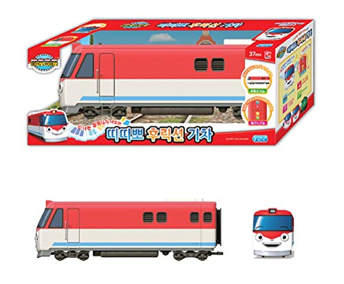 TITIPO TTITTIPPO Train Toy Running by Friction Gear Voice Sound Blinking Headlight Red Color
