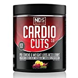 NDS Nutrition Cardio Cuts 3.0 - Advanced Pre-Cardio and Weight Loss Formula with L-Carnitine - Maximum Energy, Greater Endurance, Faster Recovery, Increased Performance - Razz Lemonade - 40 Servings