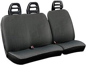 Lupex Shop C.B G Fundas para Asientos para Furgoneta, 3plazas cinturón Bajo de Algodón Gris Compatibles para Nissan Trade
