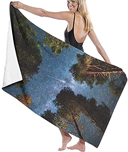 ULNIKU-T Baño Toallas Wonderful Forest Multi-Purpose Playa Toallas Super Suave Absorbent Playa Toallas Suitable For Children and Adults Travel Yoga Natación and Cámping 80X130Cm